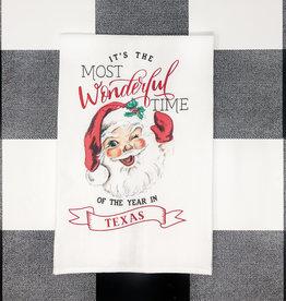 Mud Pie Texas Christmas Towel