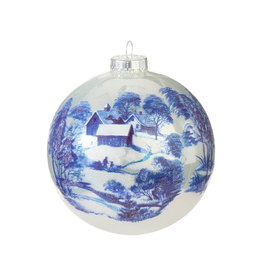 Raz Imports Toile Ball Ornament