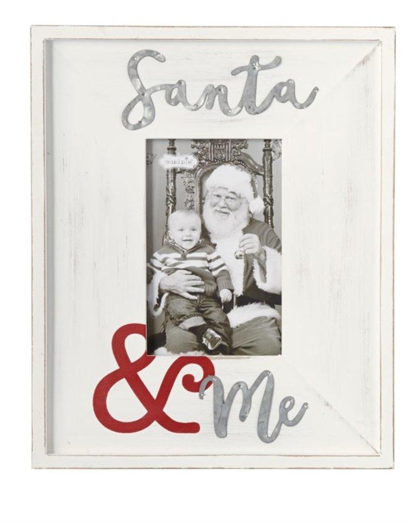 Mud Pie Santa & Me Wood & Tin Frame