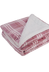 Opportunities Rose Plaid Fleece Blanket