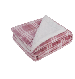 Opportunities Rose Plaid Fleece Blanket