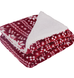 Holiday Sweater Sherpa Fleece Blanket