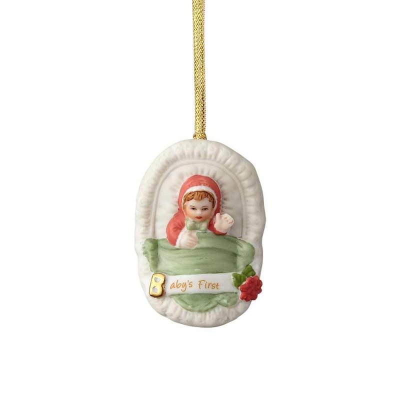 GROWING UP GIRLS COLLECTIBLE  ORNAMENT BRUNETTE BABY