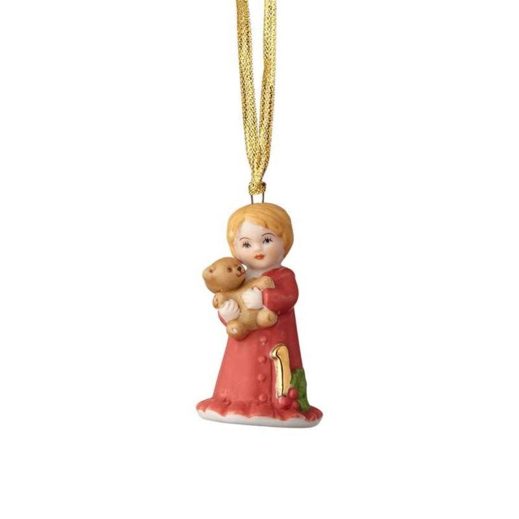 GROWING UP GIRLS COLLECTIBLE  ORNAMENT BLONDE AGE 1