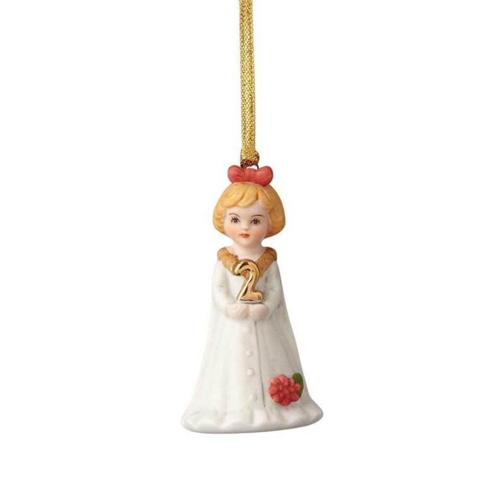 GROWING UP GIRLS COLLECTIBLE  ORNAMENT BLONDE AGE 2