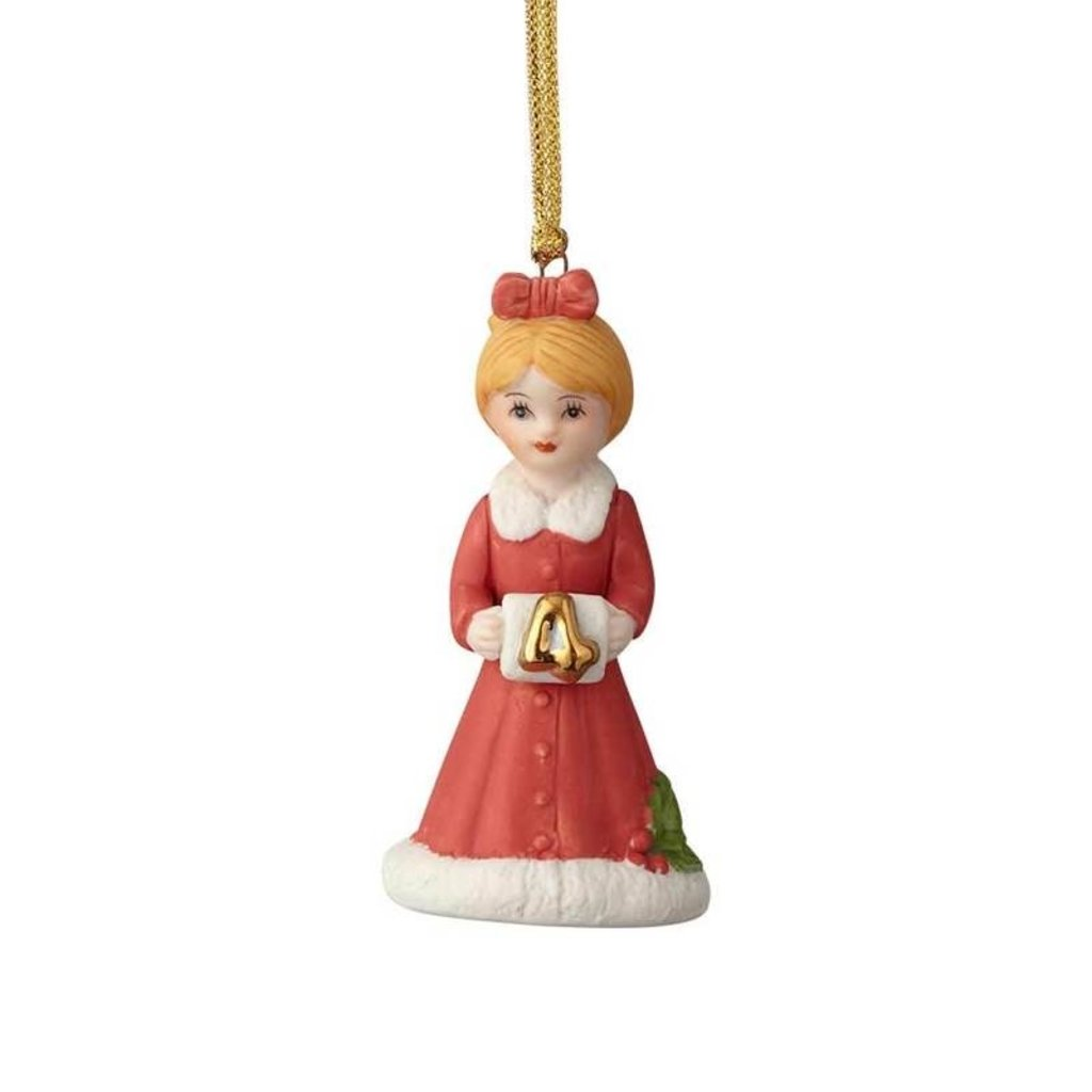 GROWING UP GIRLS COLLECTIBLE  ORNAMENT BLONDE AGE 4