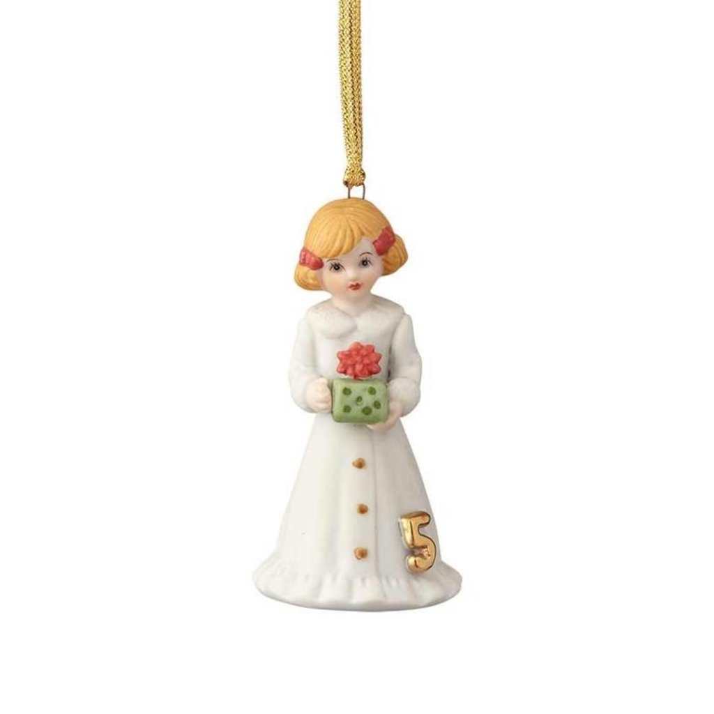 GROWING UP GIRLS COLLECTIBLE  ORNAMENT BLONDE AGE 5