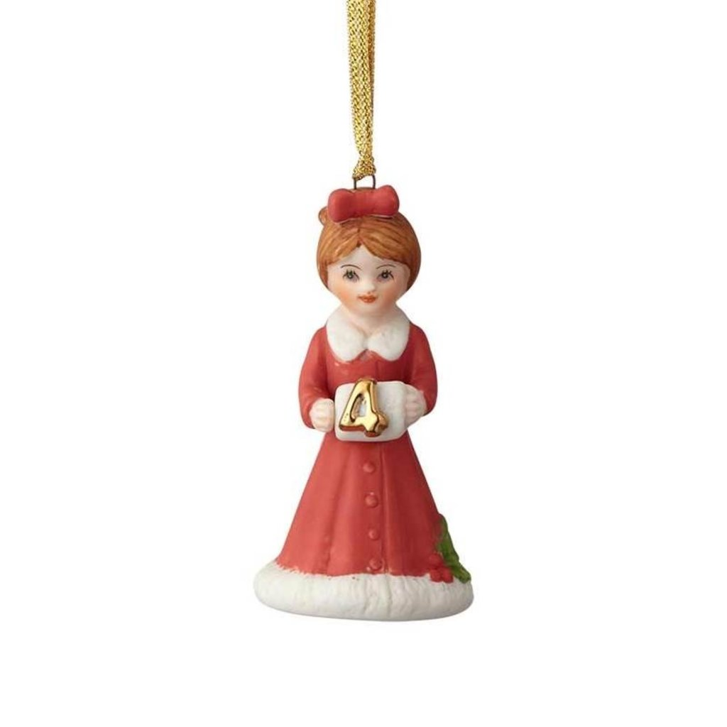 GROWING UP GIRLS COLLECTIBLE  ORNAMENT BRUNETTE AGE 4