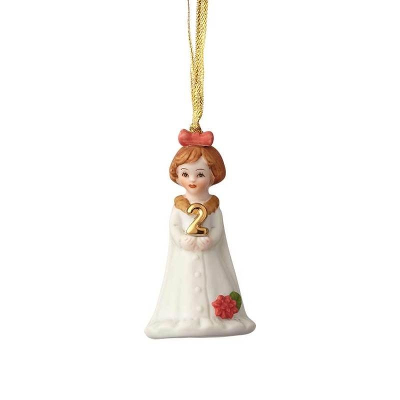 GROWING UP GIRLS COLLECTIBLE  ORNAMENT BRUNETTE AGE 2
