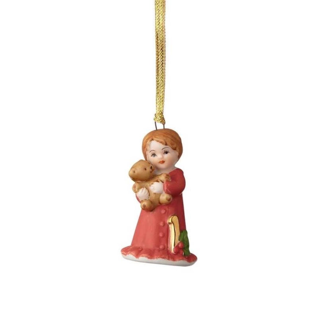 GROWING UP GIRLS COLLECTIBLE  ORNAMENT BRUNETTE AGE 1