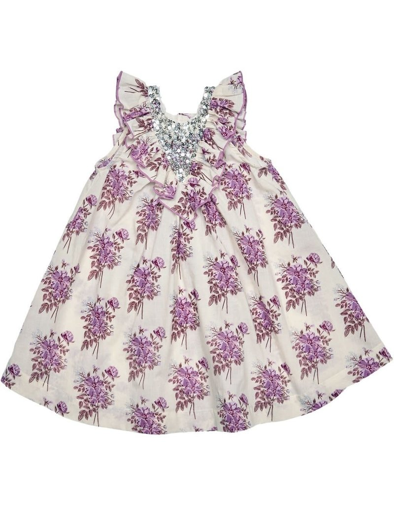 PINK CHICKEN MARLY DRESS - LAVENDER FLORAL
