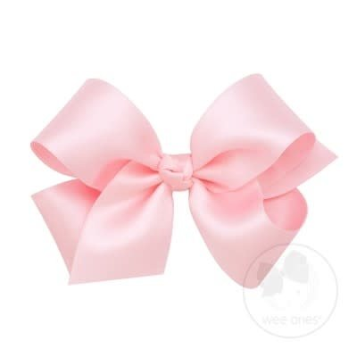WEE ONES Medium Classic French Satin Bow