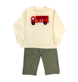 BAILEY BOYS FIRETRUCK BOYS PANT SET