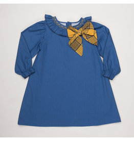 THE OAKS APPAREL COMPANY BEATRICE BLUE MUSTARD DRESS