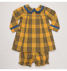 THE OAKS APPAREL COMPANY SHELBY MUSTARD PLAID SET