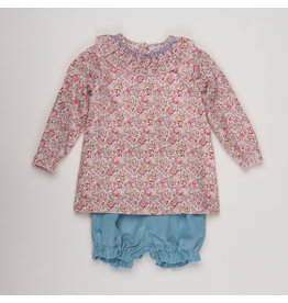 THE OAKS APPAREL COMPANY MADDIE PINK FLORAL/AQUA SET
