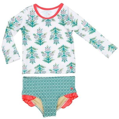PINK CHICKEN RASH GUARD SET