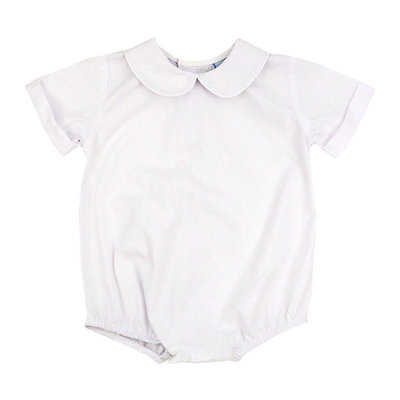 BAILEY BOYS WHITE BUTTON BACK BOYS SS ONESIE