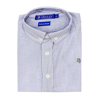 J.BAILEY BUTTON DOWN SHIRT- BLUE WINDOWPANE