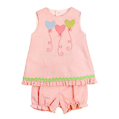 BAILEY BOYS HEARTSTRINGS CRISS CROSS W/ BLOOMER
