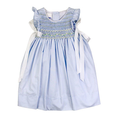 BAILEY BOYS BLUE WITH IVORY DRESS