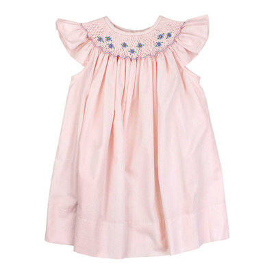BAILEY BOYS PINK W/BLUE FLOWERS DRESS
