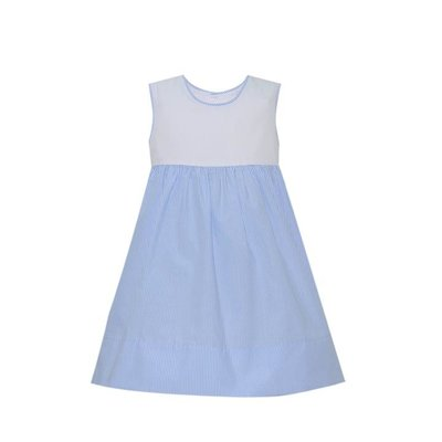 LULLABY SET DAISY DRESS- BLUE STRIPE