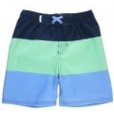 RUGGED BUTTS COLOR BLOCK SWIM TRUNKS