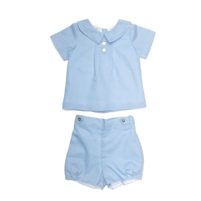 THE OAKS APPAREL COMPANY JOSEPH BLUE LINEN SET