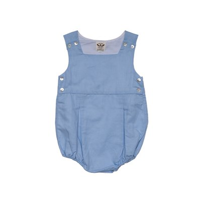 THE OAKS APPAREL COMPANY DAVID BLUE LINEN ROMPER