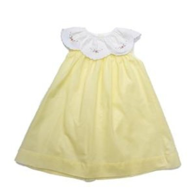THE OAKS APPAREL COMPANY HARPER YELLOW WHITE COLLAR DRESS