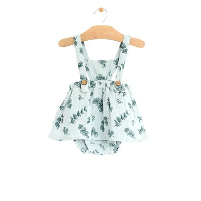 CITY MOUSE MUSLIN BUTTON PINAFORE