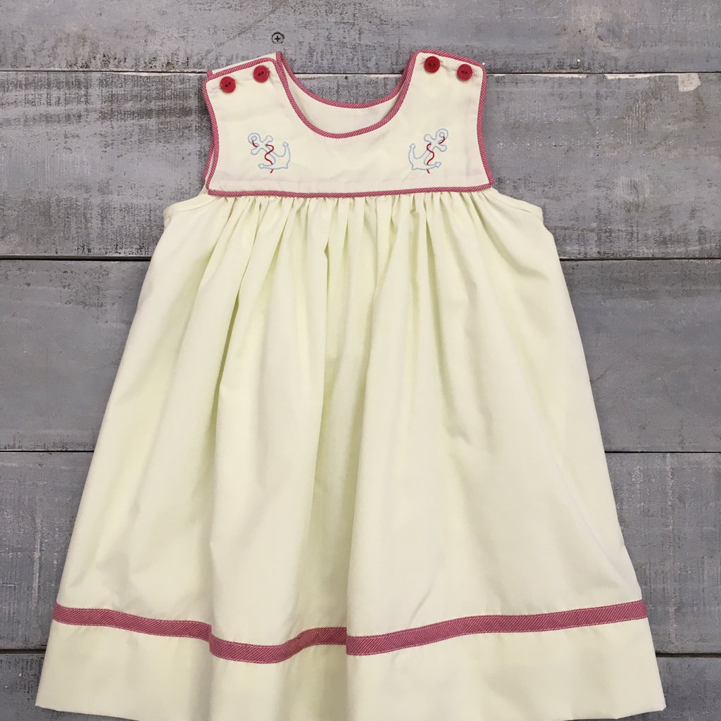LULLABY SET LOUISE ANCHOR DRESS- YELLOW