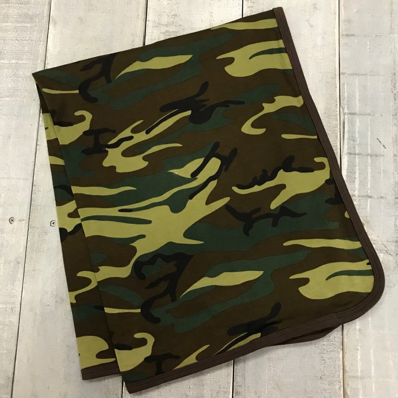 BEYOND THE RAINBOW CAMO RECEIVING BLANKET
