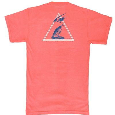 COASTAL COTTON CLOTHING YOUTH RED PELICAN SHORT SLEEVE TEE