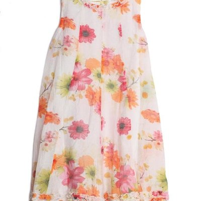 ISOBELLA & CHLOE SPRING BLOSSOM DRESS- ORANGE