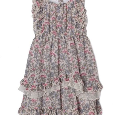 ISOBELLA & CHLOE FLEURETTE DRESS- PURPLE
