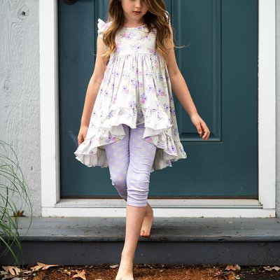 MUSTARD PIE FLUTTERY TUNIC SET- LILAC FIELD