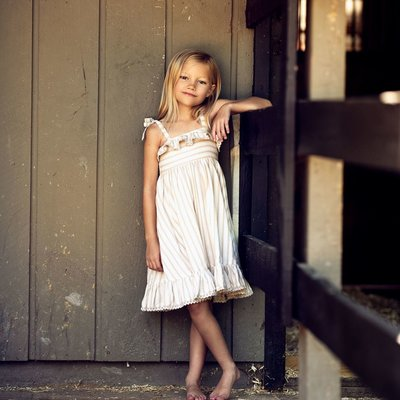 LITTLE PRIM ELLIE DRESS- BISQUIT