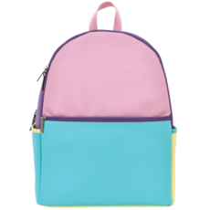 ISCREAM COLOR BLOCK FAUX LEATHER BACKPACK