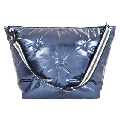 ISCREAM BLUE METALLIC TUFTED WEEKENDER BAG