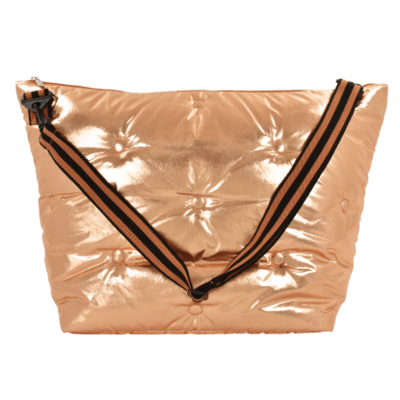 ISCREAM COPPER METALLIC TUFTED WEEKEND BAG