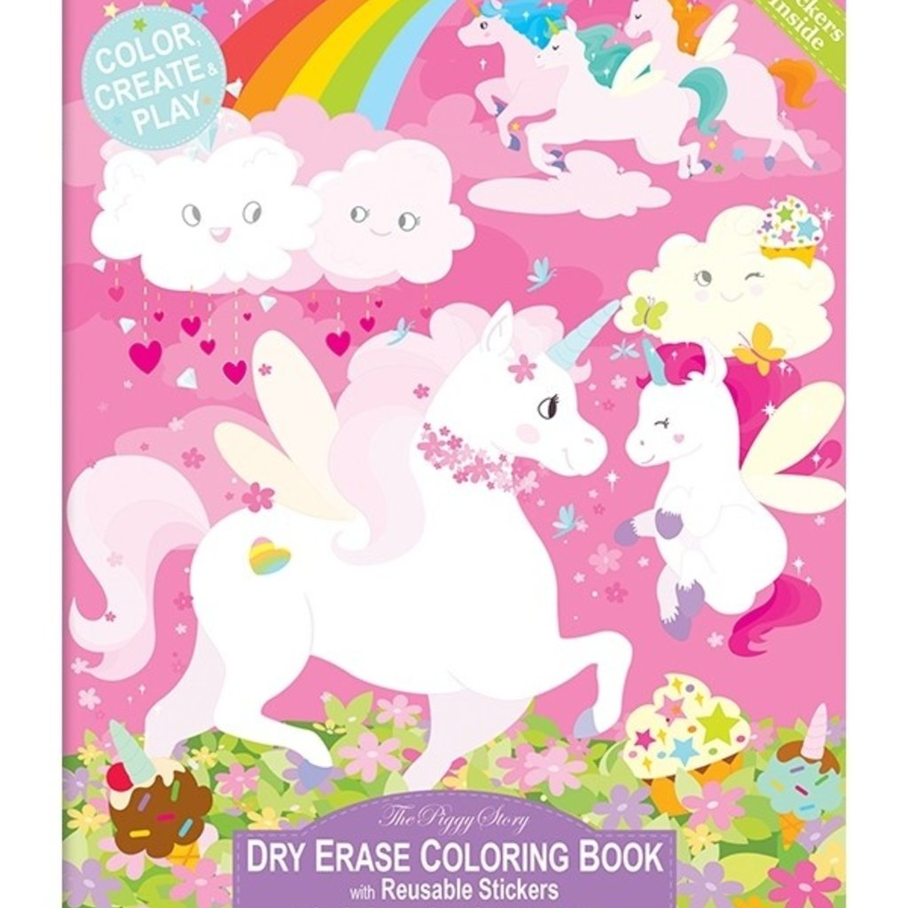 PIGGY STORY DRY ERASE COLORING BOOK