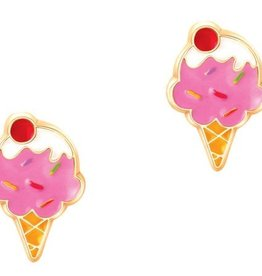 PIGGY STORY STRAWBERRY ICE CREAM CONE STUDS
