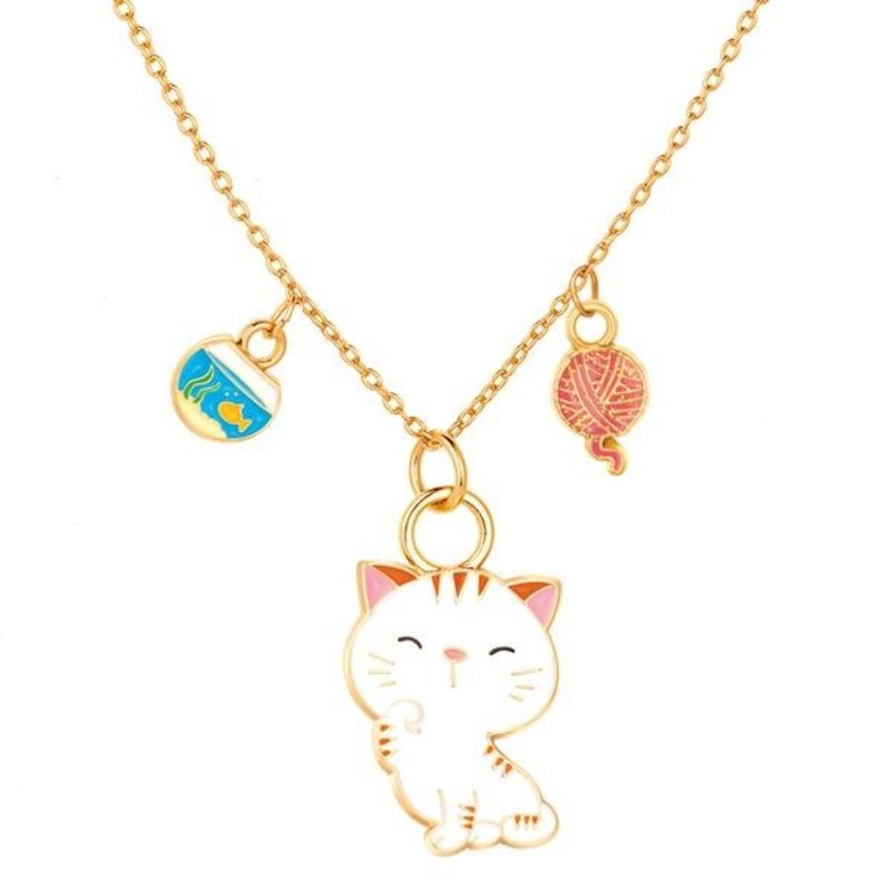 PIGGY STORY CHARMING WHIMSY NECKLACE- SWEET KITTY