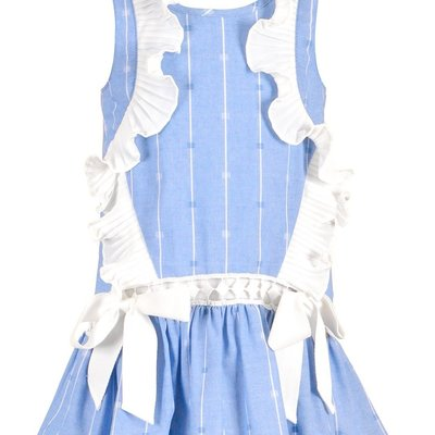 Baby Sara DROP WAIST PIN STRIPE DRESS