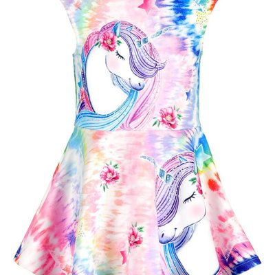 Baby Sara UNICORN PRINT DRESS