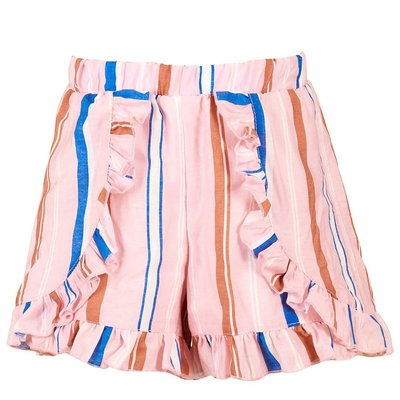 Hannah Banana DREAM TIE FRONT TEE AND STRIPED SHORT W FRILLS