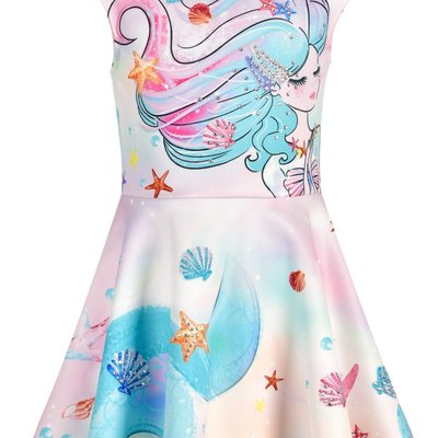Hannah Banana PRAYING MERMAID FIT-AND-FLARE SKATER DRESS