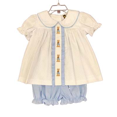 BANANA SPLIT PETER RABBIT GIRLS BLOOMER SET
